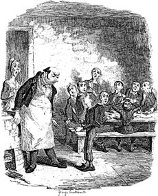 Oliver Twist Illustration - Please, sir, may I have some more